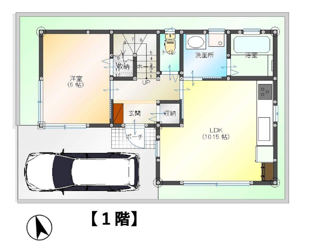 14坪 狭小2階建て住宅 最大で5LDK、屋上もついた間取り | 横浜の ...